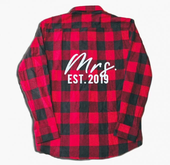 flannel bridesmaid shirts