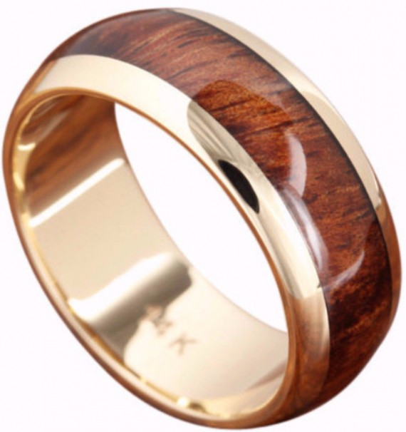 natural wood inlay wedding ring | Wood Rings Groom Picks | Northern Royal | https://emmalinebride.com/groom/wood-rings-groom/
