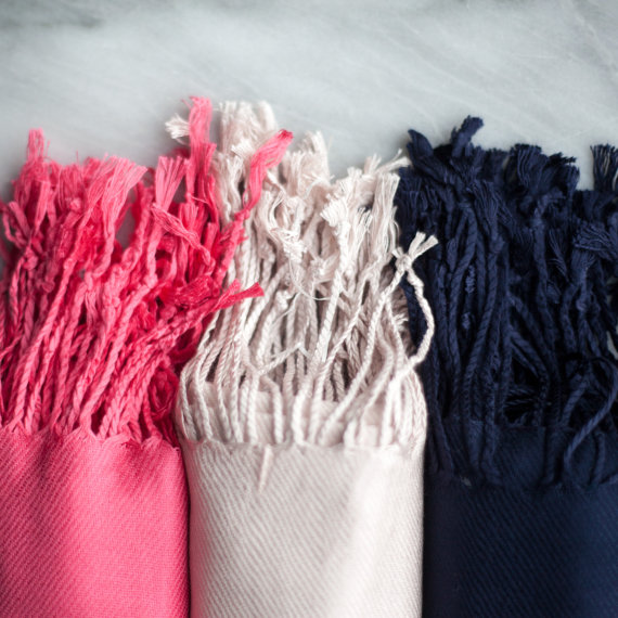 pashminas via 26 Things Guests Love at Weddings from A to Z | https://emmalinebride.com/planning/things-guests-love-at-weddings/