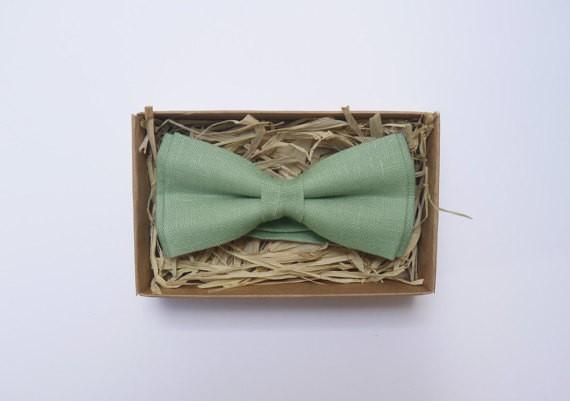 sage bow tie | via Sage Wedding Ideas from http://emmalinebride.com/color/sage-green-wedding-ideas/