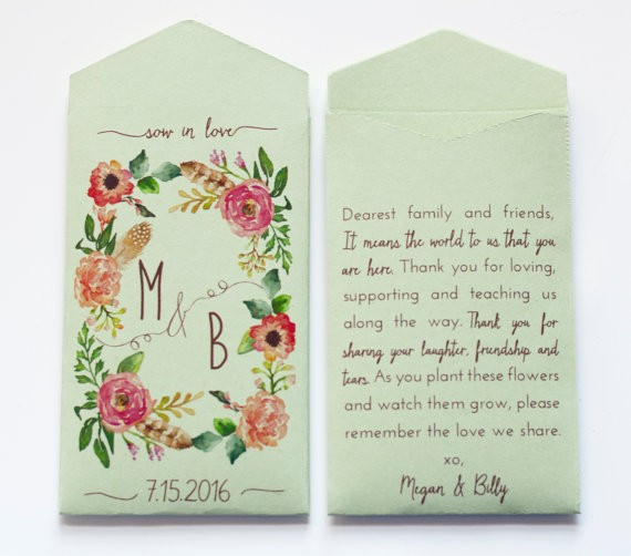 sage seed envelopes | via Sage Wedding Ideas from https://emmalinebride.com/color/sage-green-wedding-ideas/