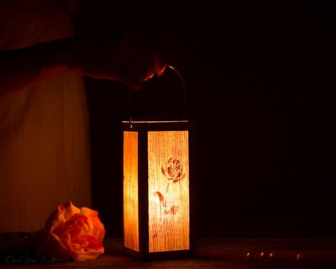 table number lanterns - night
