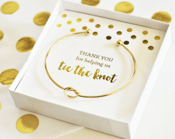 thank you for helping us tie the knot bracelet