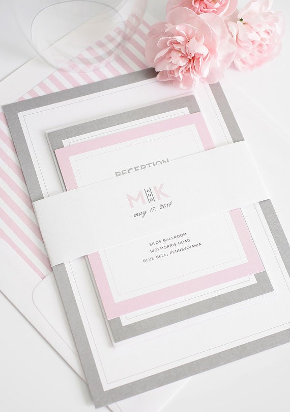 wedding invitations by shineinvitations via 26 Things Guests Love at Weddings from A to Z | https://emmalinebride.com/planning/things-guests-love-at-weddings/ ‎