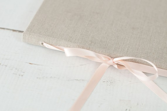 This beautiful wedding vow book will become a keepsake for years to come. By Claire Magnolia. | https://emmalinebride.com/ceremony/wedding-vow-book-handmade/