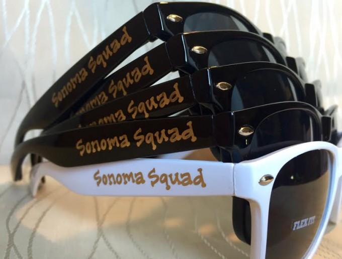 wine bachelorette sunglasses sonoma squad