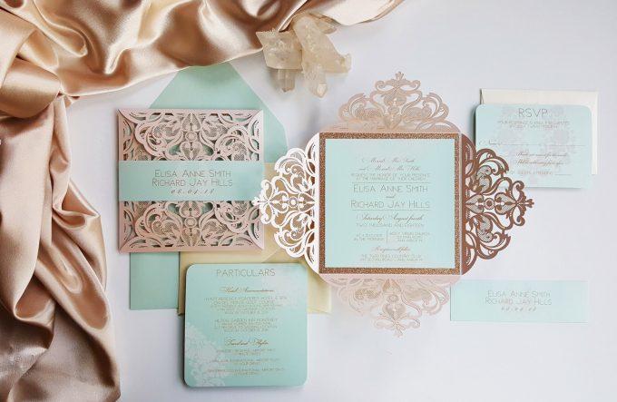 best wedding invitations on etsy, handmade wedding invitations