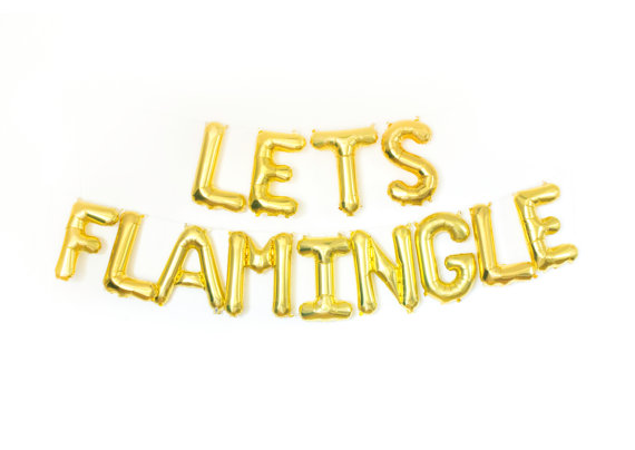 Let's Flamingle Banner by Studio Pep | via Palm Tree Bachelorette Party Ideas http://bit.ly/2db3WOL