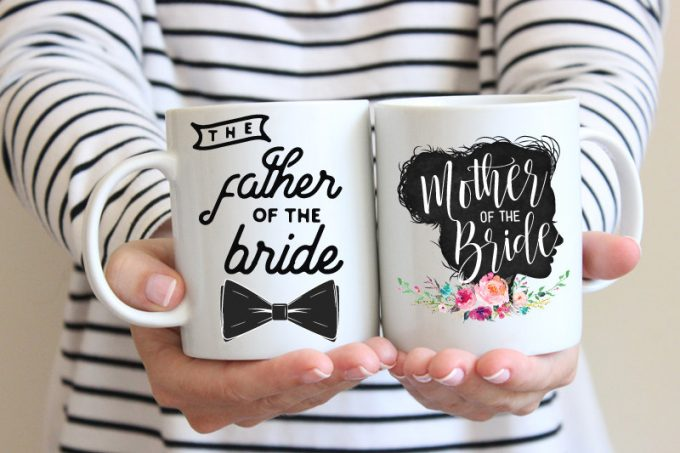 Wedding Mug Set for Mother / Father of the Bride
