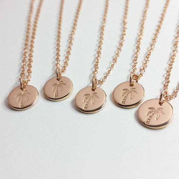 Palm Tree Necklaces by Lemon Bug Shop | via Palm Tree Bachelorette Party Ideas http://bit.ly/2db3WOL