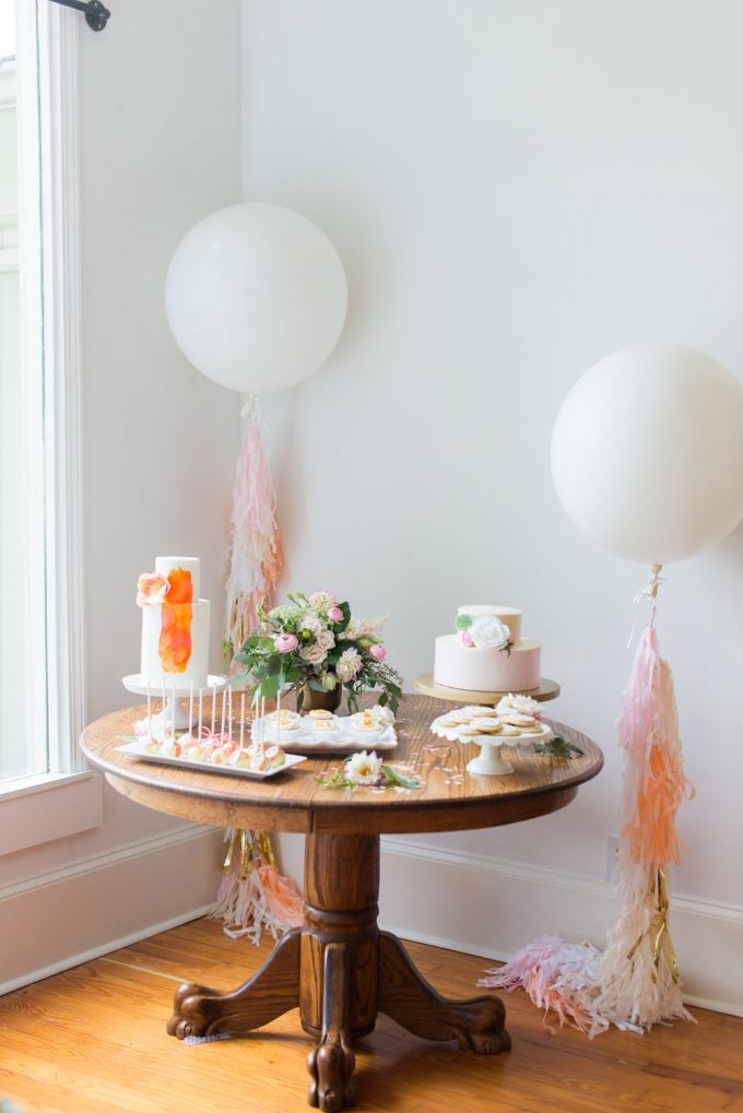 Balloon by GenWoo, photo by Shelby Rae Photographs | 21 Festive Tassel Wedding Decorations & Accessories | http://emmalinebride.com/themes/tassel-wedding-decorations/