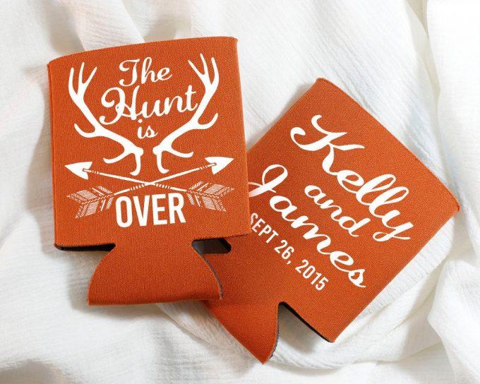 antler wedding ideas - can cooler favors
