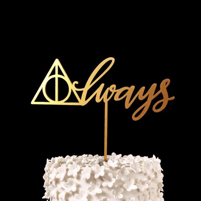 Always | Harry Potter Wedding Cake Topper | http://emmalinebride.com/wedding-ideas/harry-potter-cake-topper/