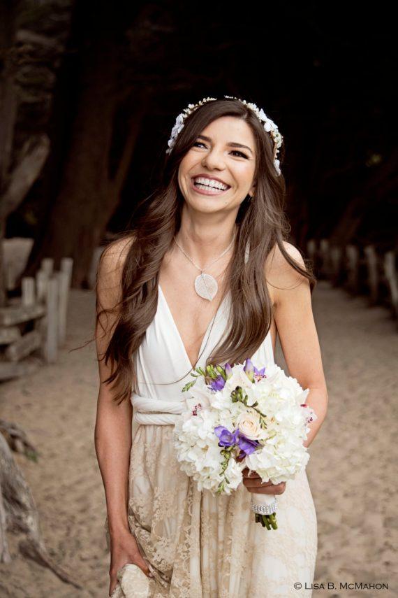 Beautiful beach wedding dress by Mimetik | via casual wedding dresses