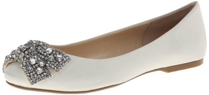 Ballet Bridal Flats by Betsey Johnson | 21 Wedding Flats That Will Look Beautiful for the Bride - http://emmalinebride.com/bride/wedding-flats-bride/