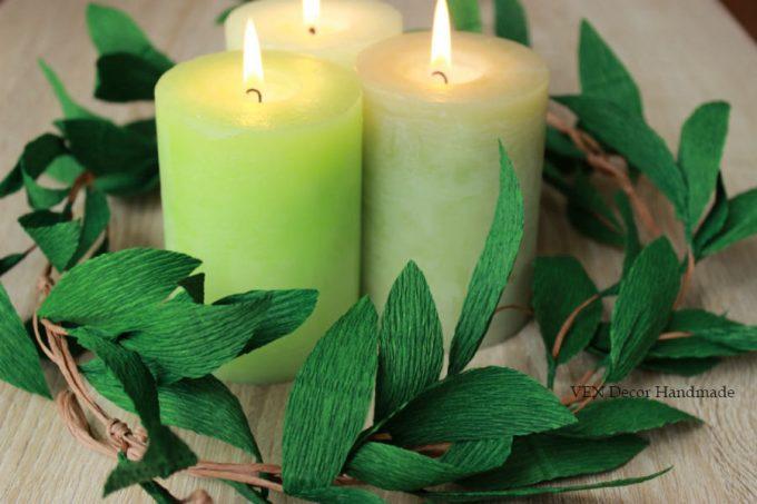 Candle Centerpiece Idea -- Handmade-a-Day