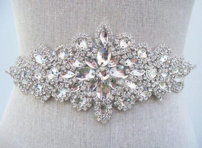 Crystal Bridal Sash | by SparkleSM Bridal | via http://emmalinebride.com/wedding/crystal-bridal-sash/