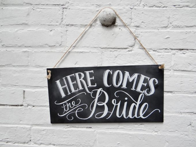 here-comes-the-bride-chalkboard-sign
