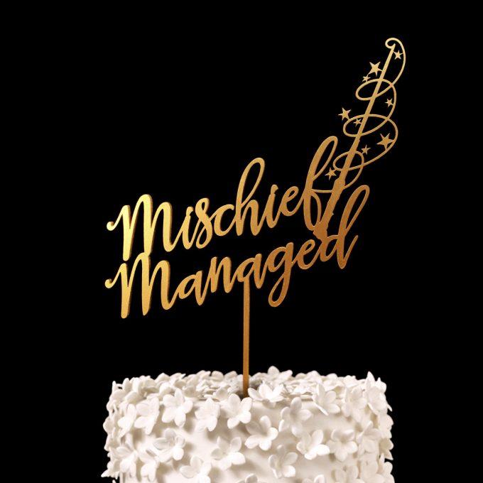 Mischief Managed | Harry Potter Wedding Cake Topper | http://emmalinebride.com/wedding-ideas/harry-potter-cake-topper/