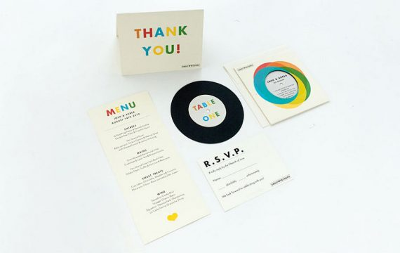 Cool record invitations for weddings!   By Ello There.