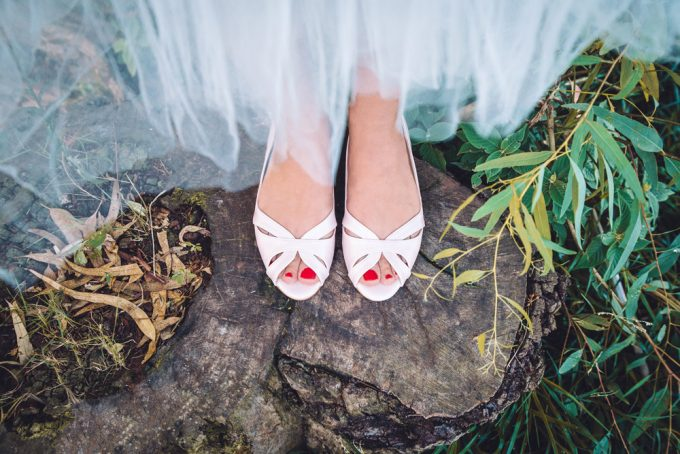 Peep Toe Flats | 21 Wedding Flats That Will Look Beautiful for the Bride - http://emmalinebride.com/bride/wedding-flats-bride/