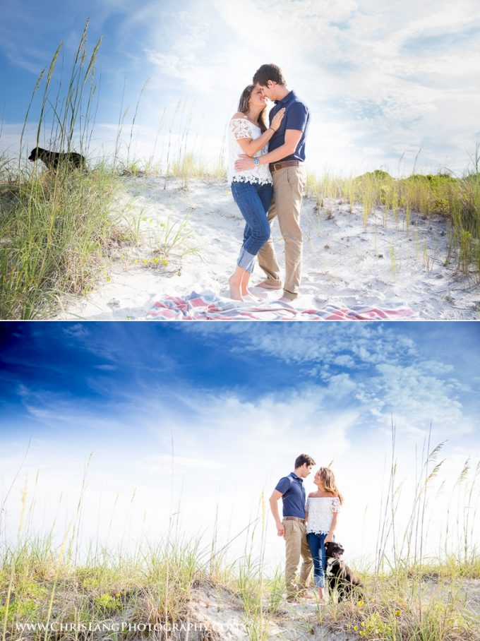 wilmington beach engagement session - Chris Lang Photography
