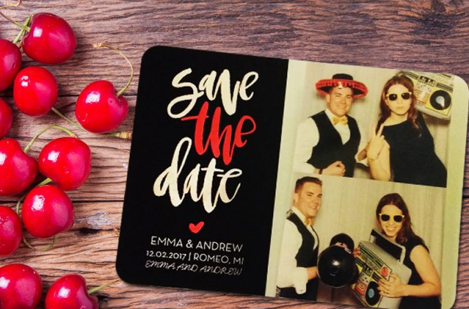Shutterfly Save the Date Cards | https://emmalinebride.com/planning/shutterfly-save-the-date-cards