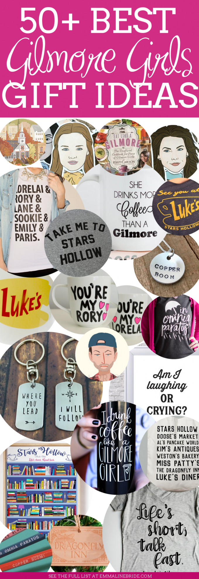 50+ Best Gilmore Girls Gifts | https://emmalinebride.com/gifts/50-best-gilmore-girls-gift-ideas