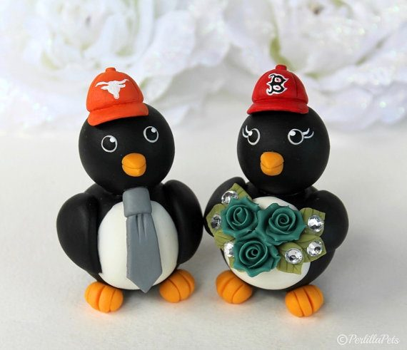 Penguin Cake Topper for Weddings | by Perlilla Pets