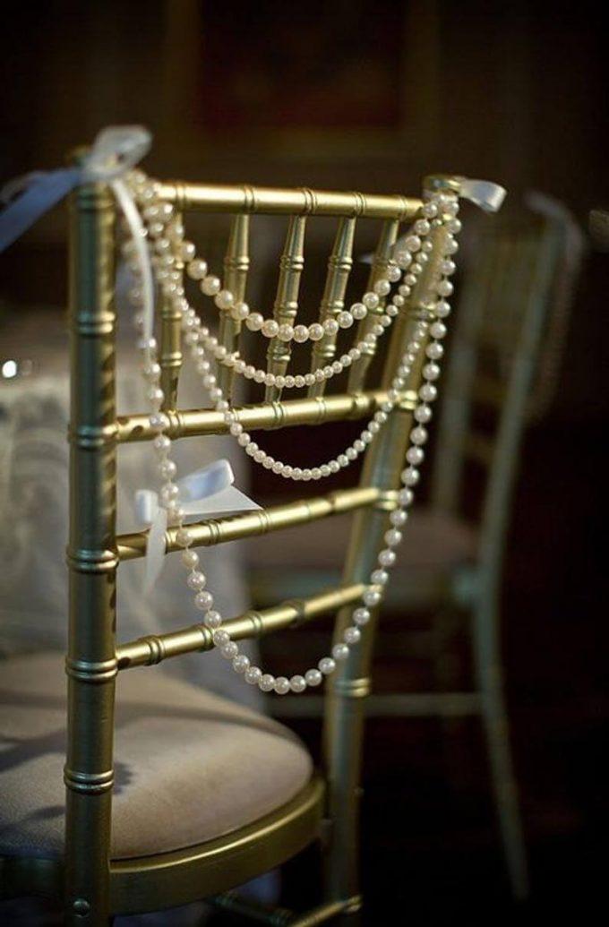 diy pearl chair backs