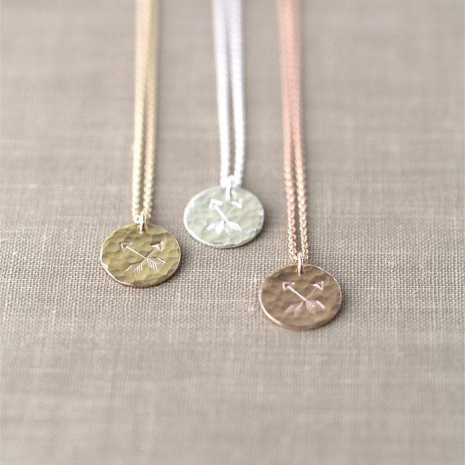 arrow pendant necklace gold