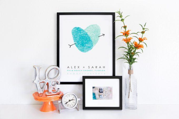 Fingerprint Guest Book Poster by Flutterbye Prints