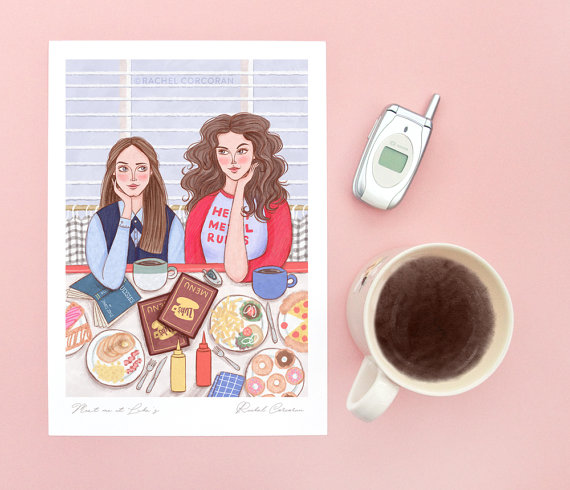 gilmore-girls-poster-art-by-rachelcorcoranstudio
