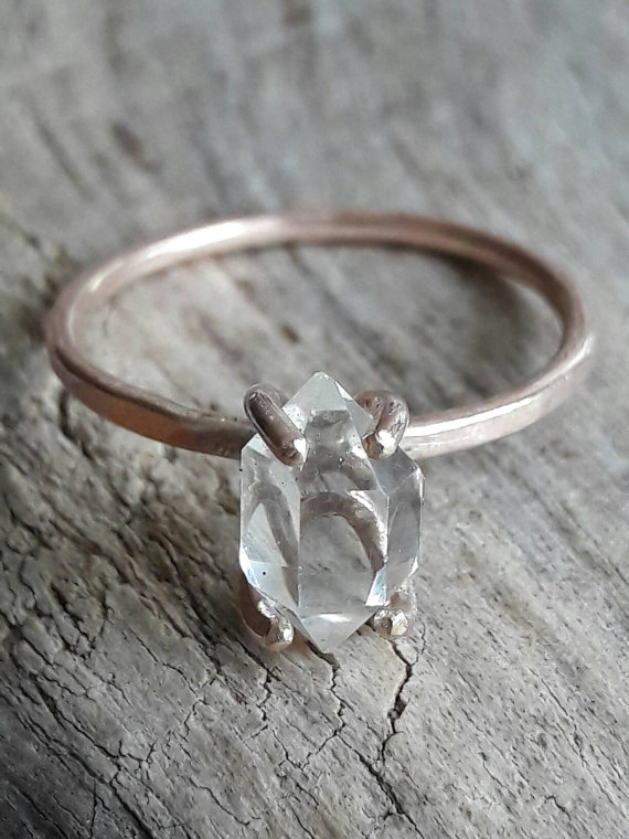 herkimer-diamond-ring