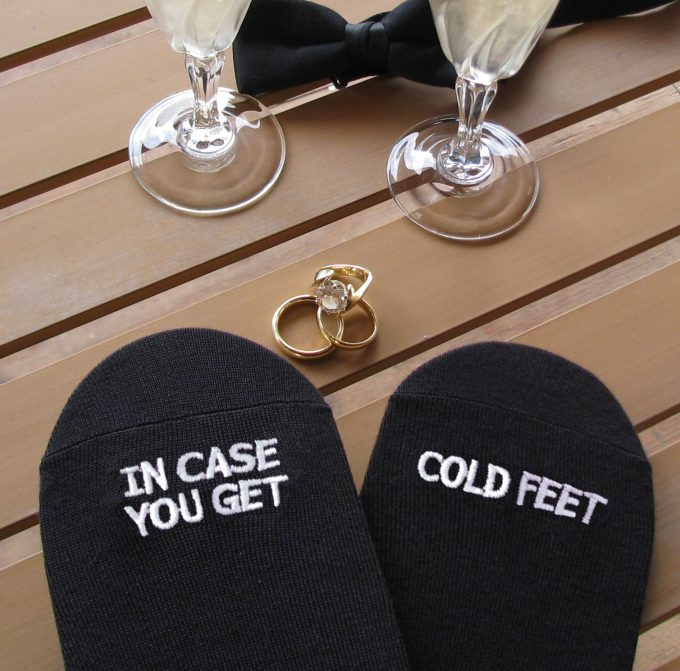 Cold Feet Socks for the Groom | http://etsy.me/2fs6JBL