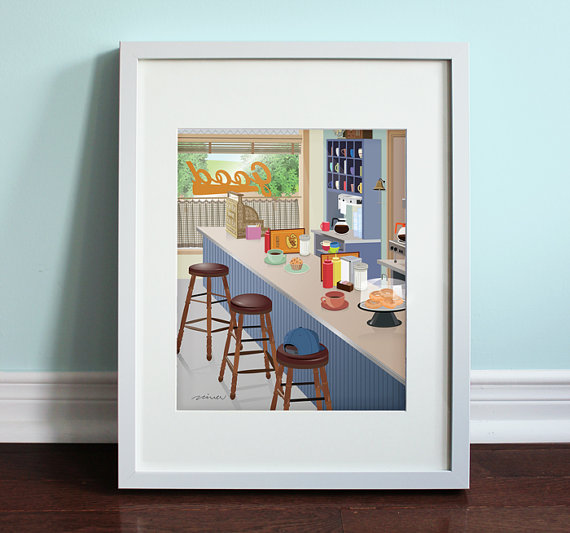 lukes-diner-print-by-beautifulpeaceshop
