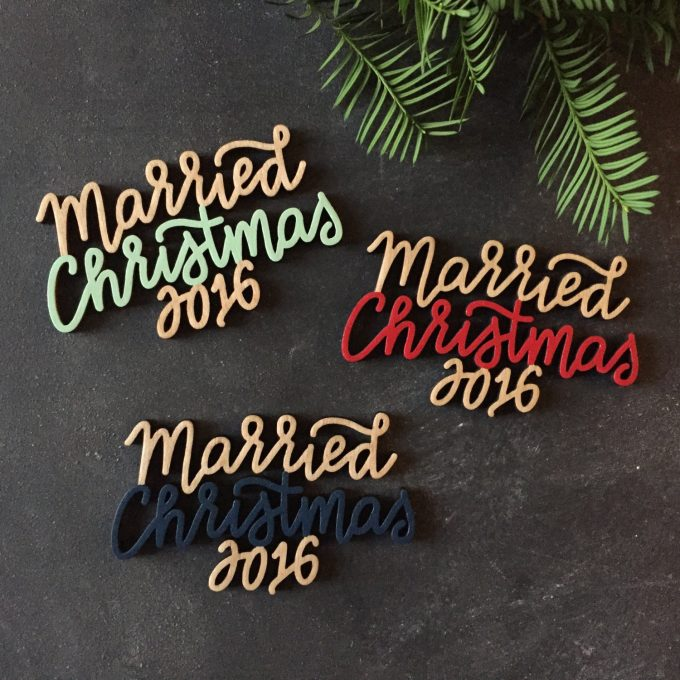 Married Christmas Ornament by Ready Go Wedding Co. - color chart