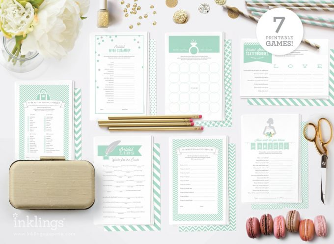 Bridal shower printables by Inklings Paperie