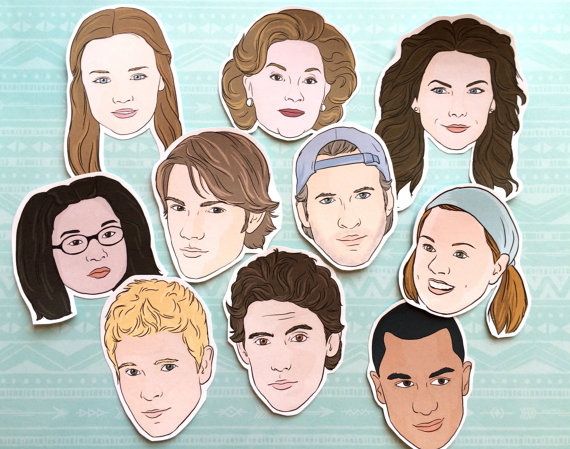 Stars Hollow Gilmore Girls magnets via 50+ Best Gilmore Girls Gift Ideas https://emmalinebride.com/gifts/50-best-gilmore-girls-gift-ideas/