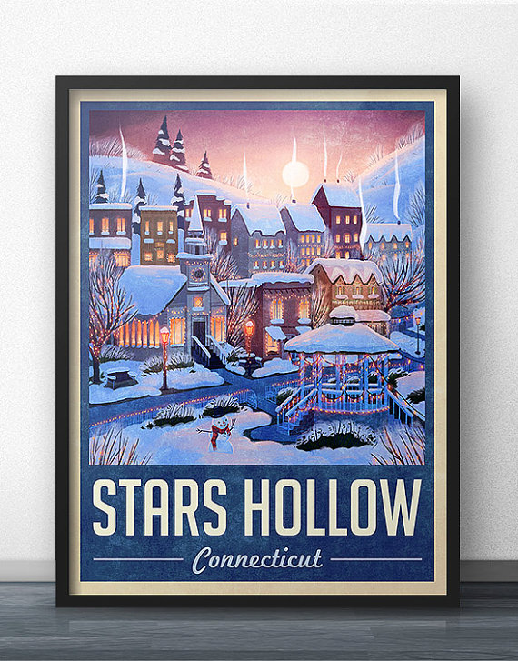 Stars Hollow Poster via 50+ Best Gilmore Girls Gift Ideas https://emmalinebride.com/gifts/50-best-gilmore-girls-gift-ideas/