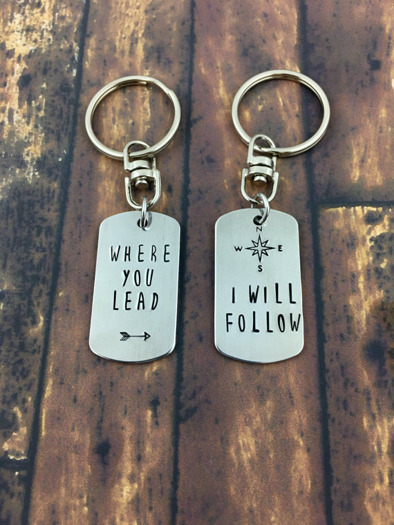 Where You Lead Keychain via 50+ Best Gilmore Girls Gift Ideas https://emmalinebride.com/gifts/50-best-gilmore-girls-gift-ideas/