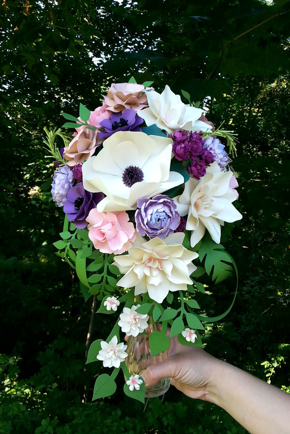 Paper Bridal Bouquet by Paper & Peony