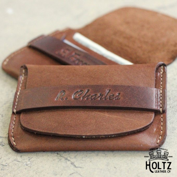 leather flip wallet for groomsmen
