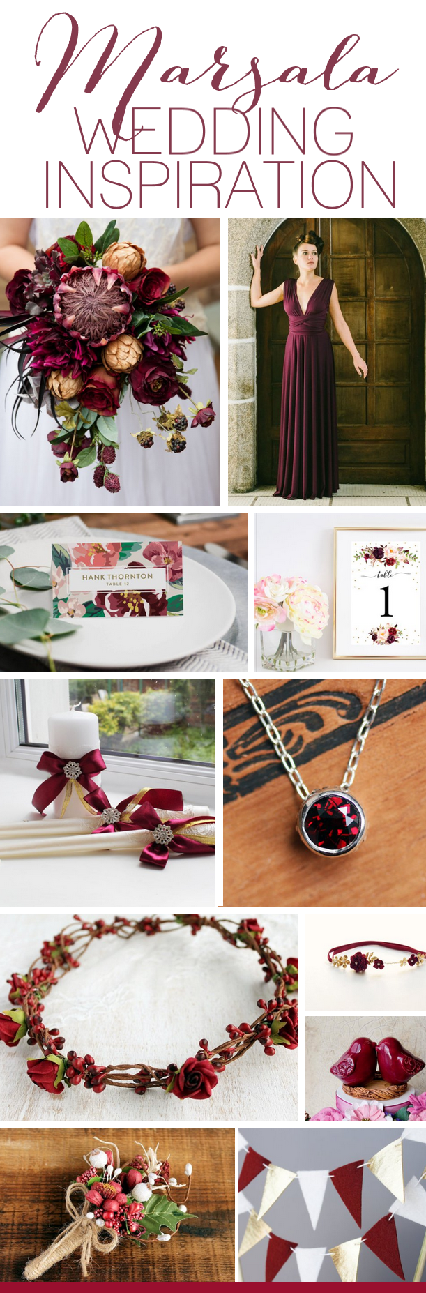 Marsala Wedding Theme Ideas