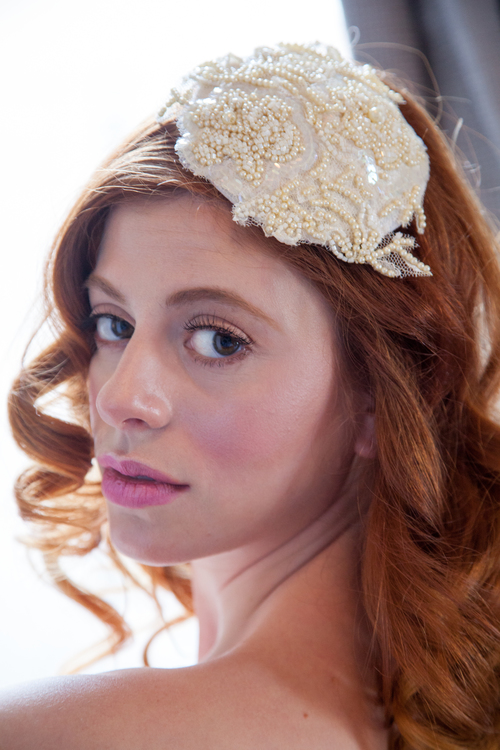 Vintage Inspired Bridal Fascinator by OBM Bridal
