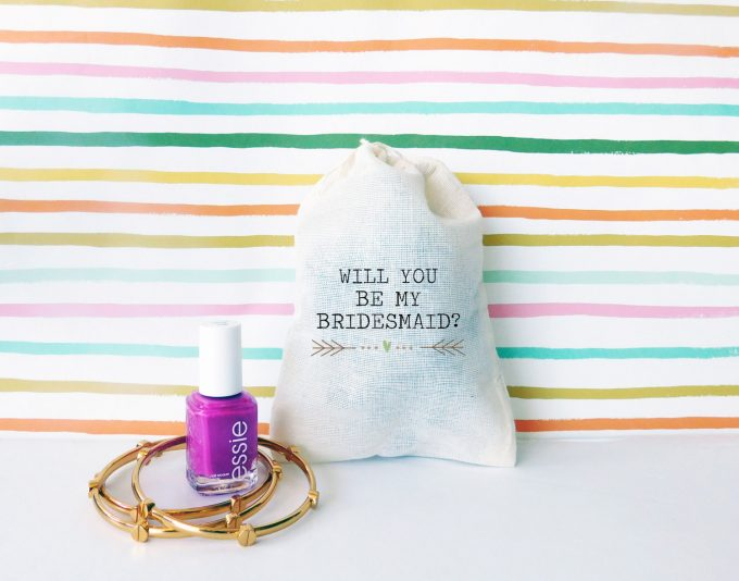 be my bridesmaid bags | via Heart and Arrow Wedding Ideas: https://emmalinebride.com/themes/heart-and-arrow-wedding-ideas