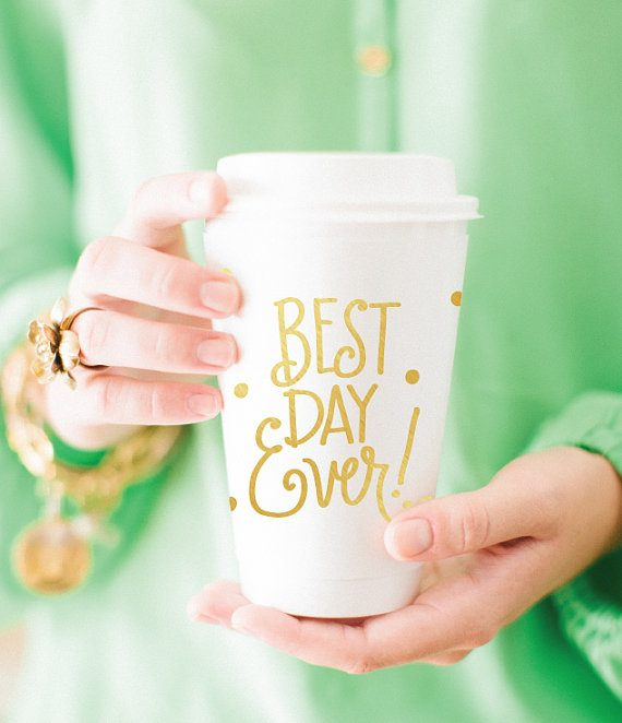best day ever coffee cups by NatalieChangStudio