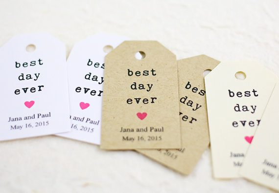 best day ever favor tags by idotags