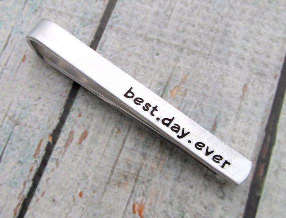 best day ever tie clip by reginalynndesign