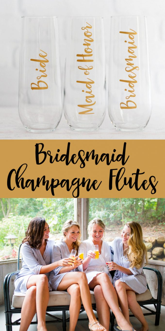 Bridesmaid Champagne Glasses